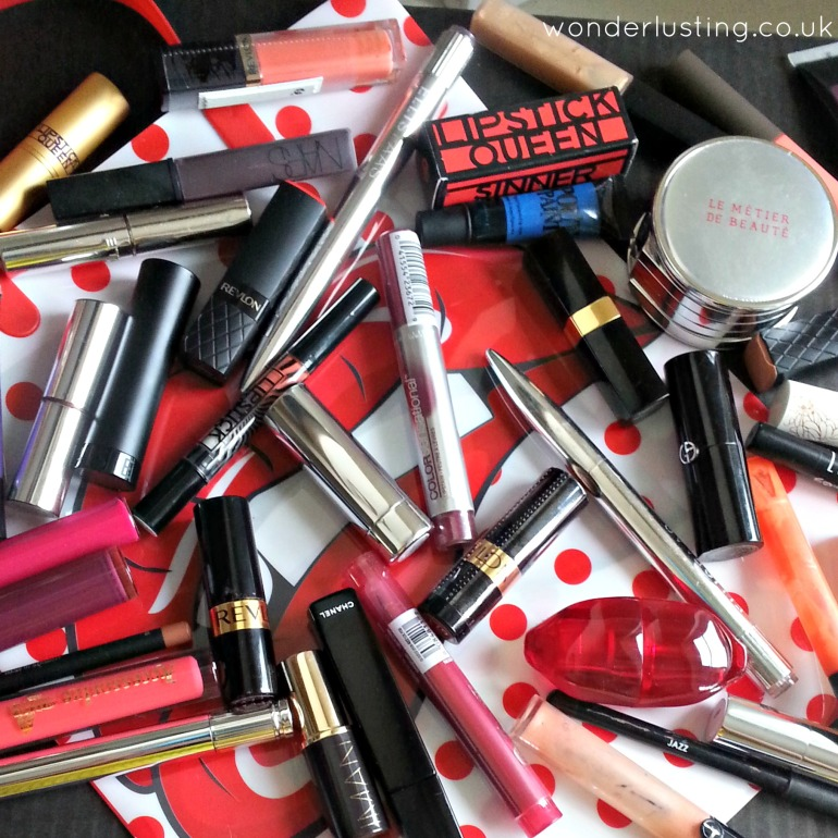 Selection of lip products
