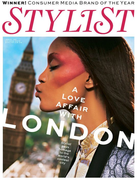 Tiara Young on cover of London issue, Stylist, June 2012