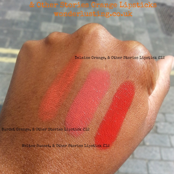 & Other Stories orange lipsticks