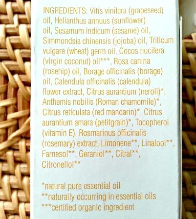 Balance Me Super Moisturising Body Oil ingredients