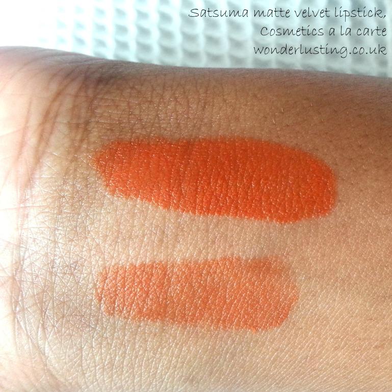 Satsuma matte velvet lipstick