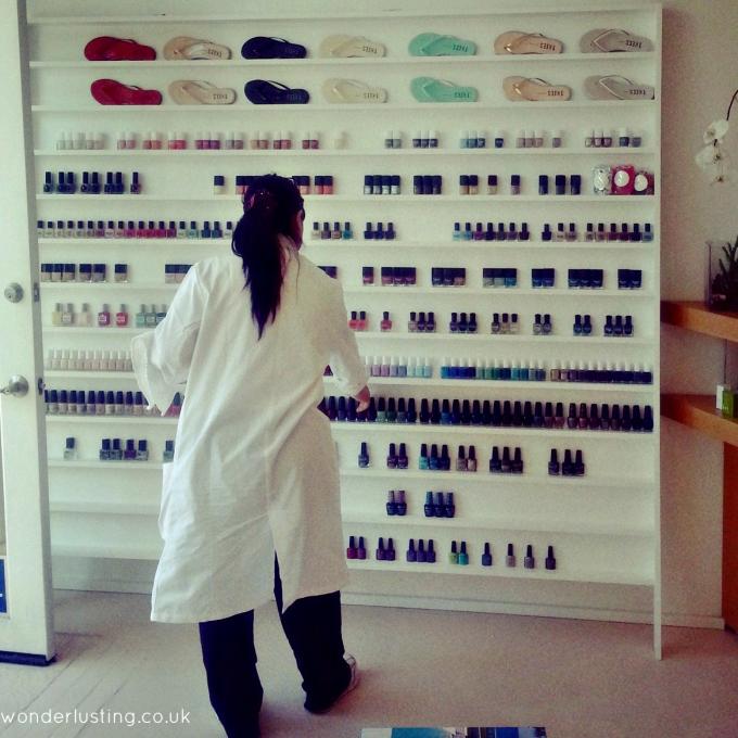 Olive & June nail polish wall