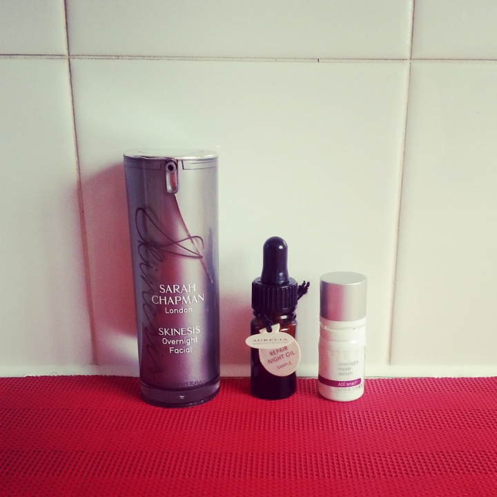 Sarah Chapman Overnight Facial has been replaced with deluxe samples of Aurelia cell repair and Dermalogica Overnight serum