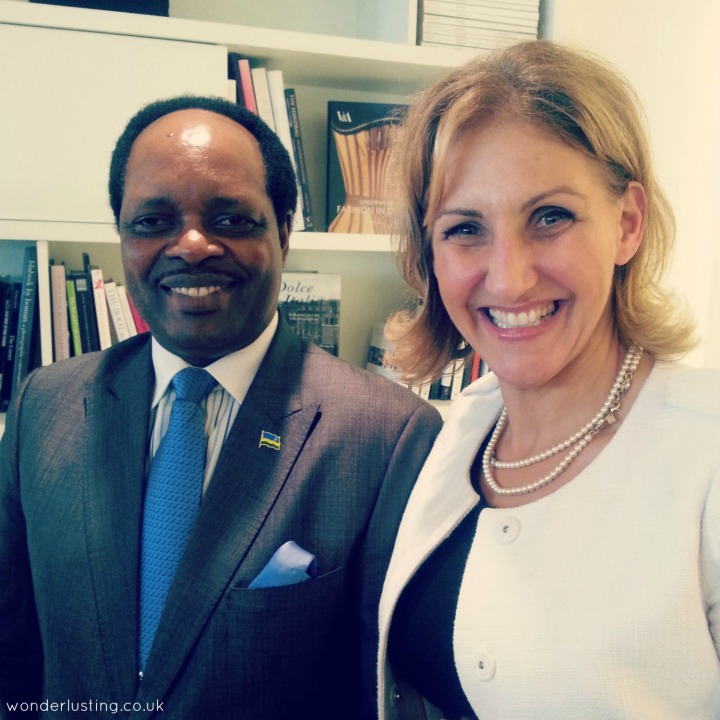 High Commissioner of the Republic of Rwanda to the United Kingdom, His Excellency Williams Nkurunziza  and Barb Stegemann, CEO, The 7 Virtues
