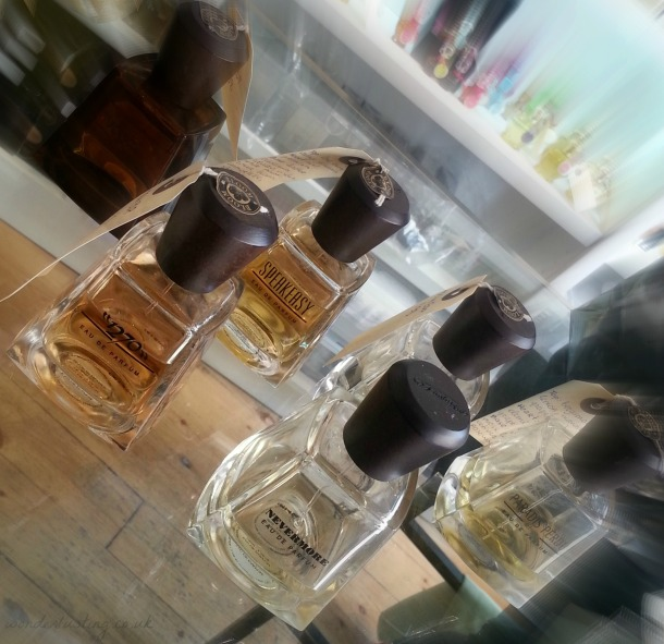Frapin perfume flacons are made from the same glass and Limousin oak caps as the cognac.