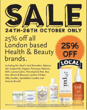London: 25% Off Green Beauty Brands This Weekend Only At Wholefoods