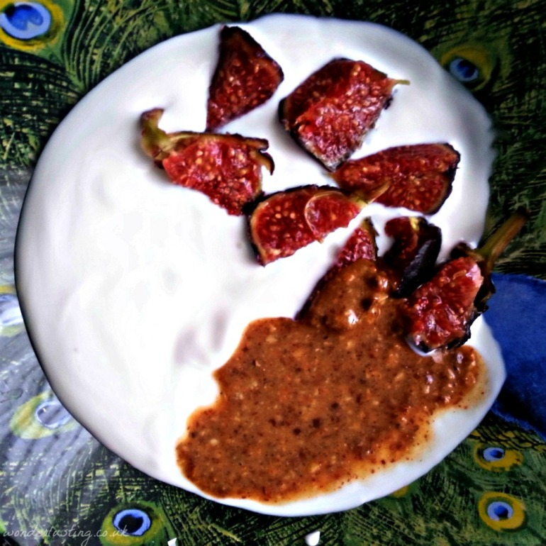 Amlou with goat's yoghurt and figs