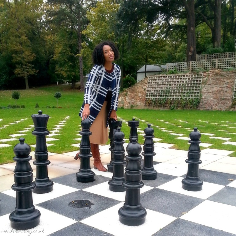 Giant chessboard, Laura Ashley The Manor Hotel