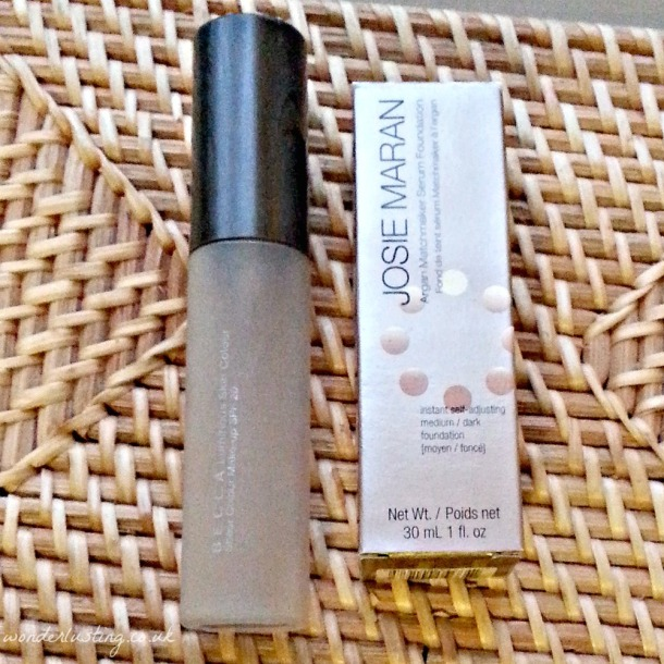 Becca Luminous Skin Tint replaced with Josie Moran Argan Matchmaker Serum Foundation