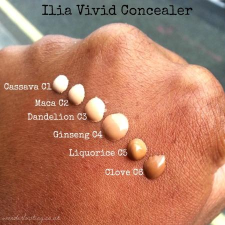Ilia Vivid Concealers swatched