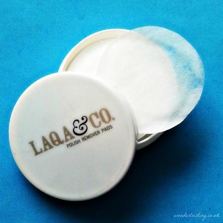 LAQA&Co nail polish remover wipes