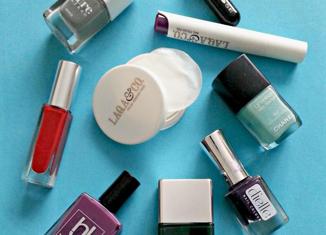 LAQA & Co nail polish remover and nail polishes