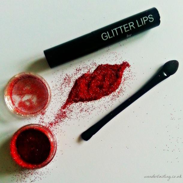 Ruby Slipper Glitter Lips - set contains glitter, glue and brush