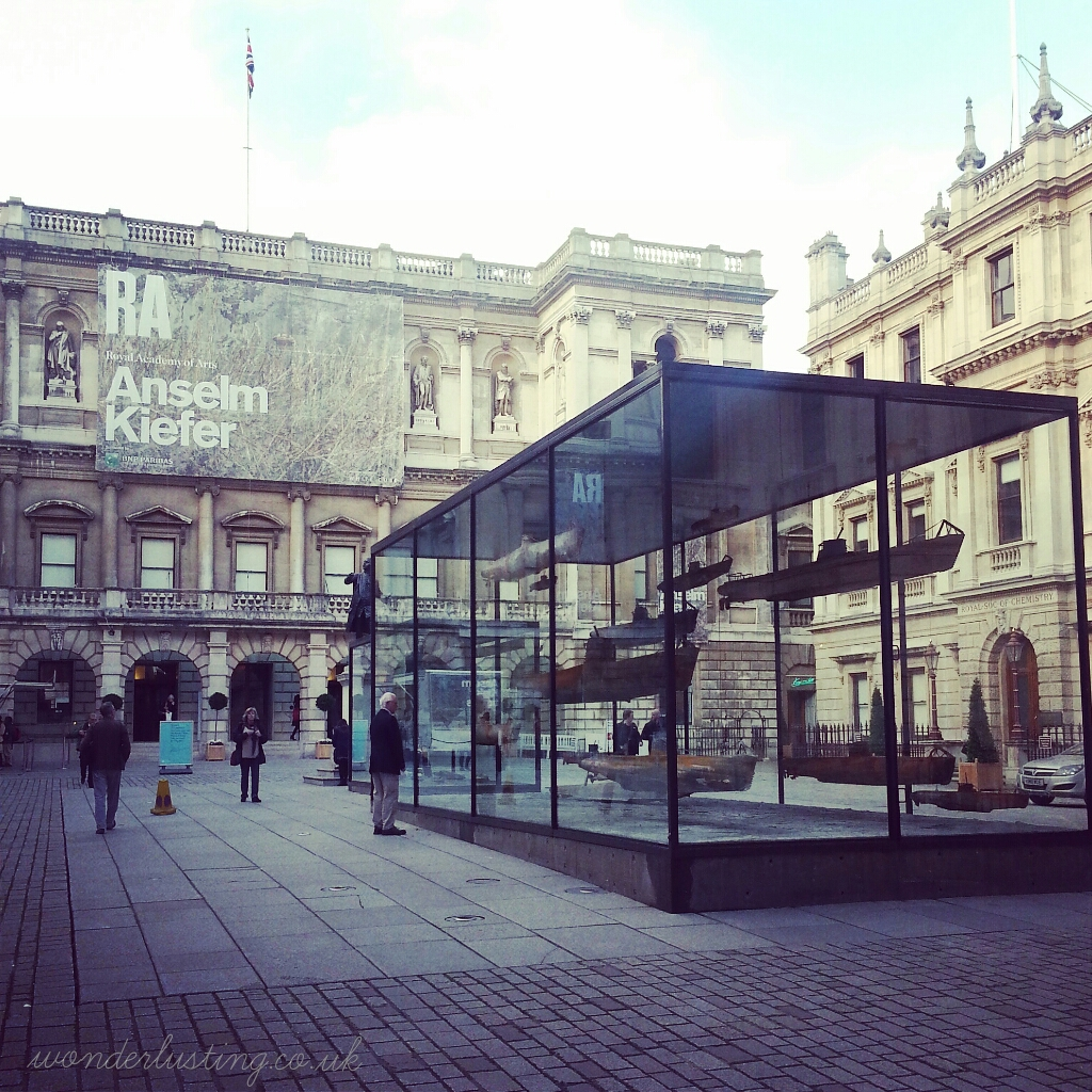 Anselm Kiefer installation in Royal Academy Courtyard