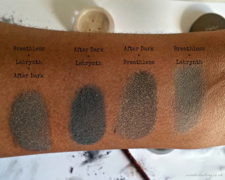 Alima Pure Decadent Fall pearluster eyeshadows