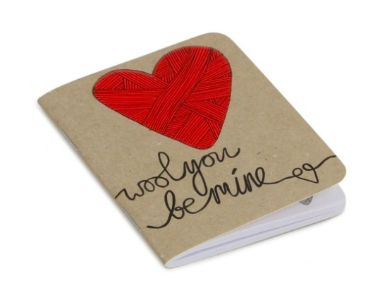 Paperchase-wool you be mine notebook