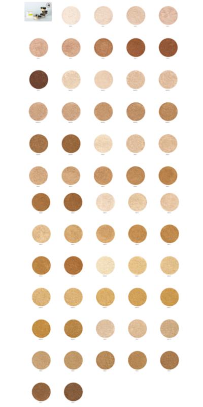 Alima satin matte foundation colour chart