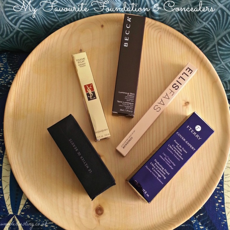My favourite foundations and concealer - Le Metier de Beaute, YSL, Becca, Ellis Faas, By Terry