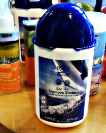 A shampoo and shower gel specially formulated for use in open water without polluting ingredients