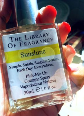 Sunshine In A Bottle From The Library of Fragrance