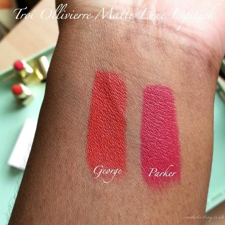 Troi Ollivierre Matte Luxe lipstick swatches