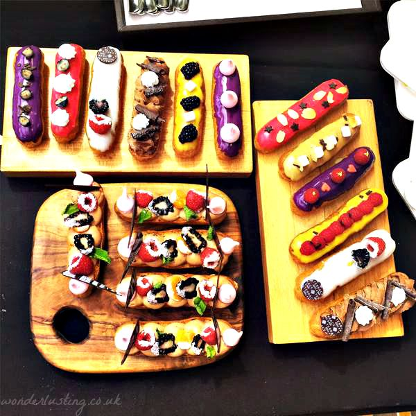 Selection of Le Meridien Piccadilly Eclairs