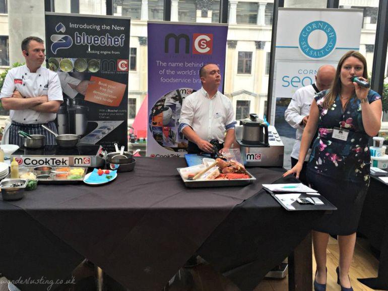Michael, Head Chef  Catherine Farina, founder, The Chef's Forum