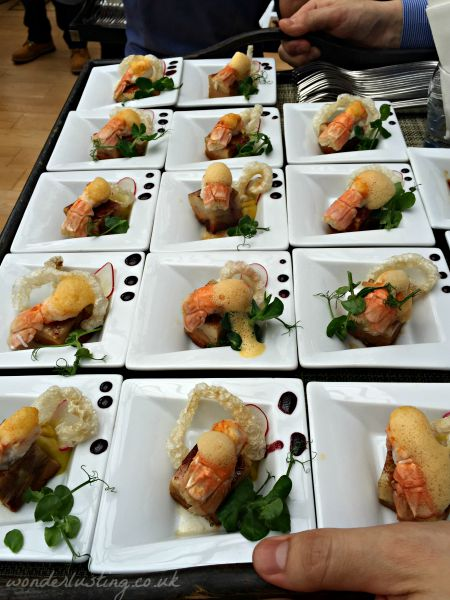 Favis lobster canapes made with assistance from HIT Training Academy students