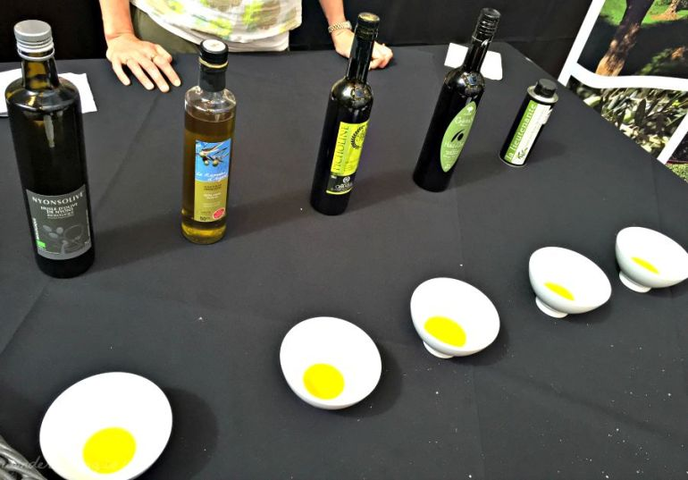 Tasting olive oils from Provence