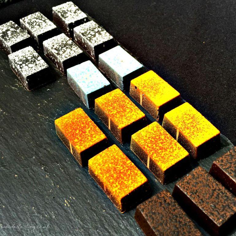 Chocolate art caramels by Paul Wayne Gregory