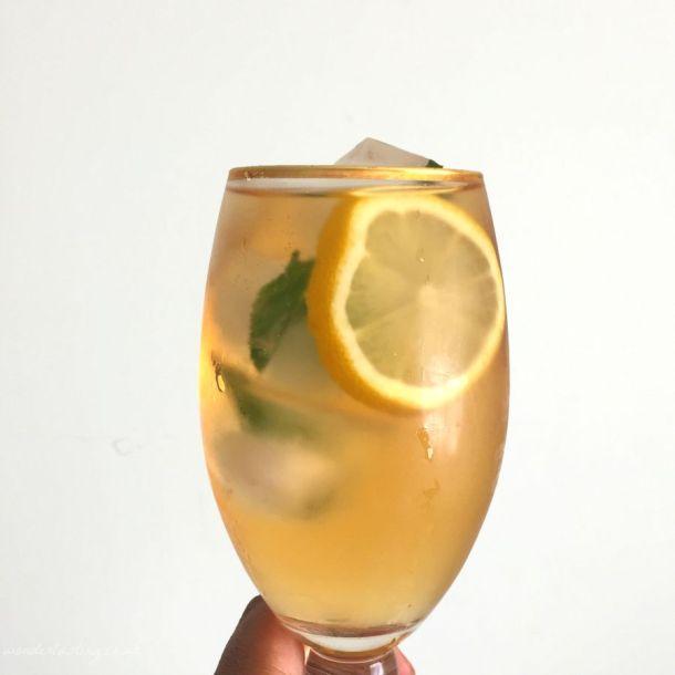 Cold brewed olive leaf tea