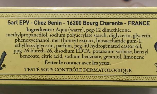 Hyalomiel ingredients
