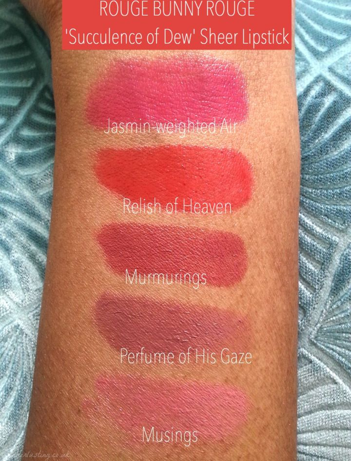 Rouge Bunny Rouge - Sheer Lipstick swatches