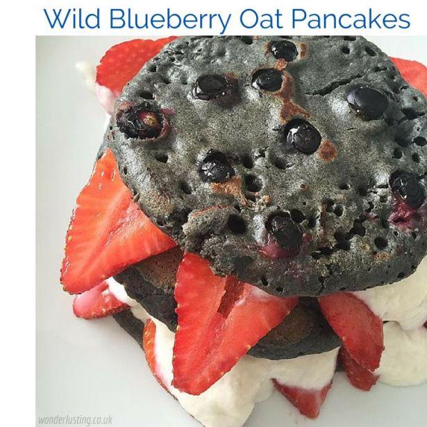 Wild Blueberry Oat Pancake Recipe