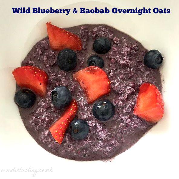 wild blueberry overnight oats