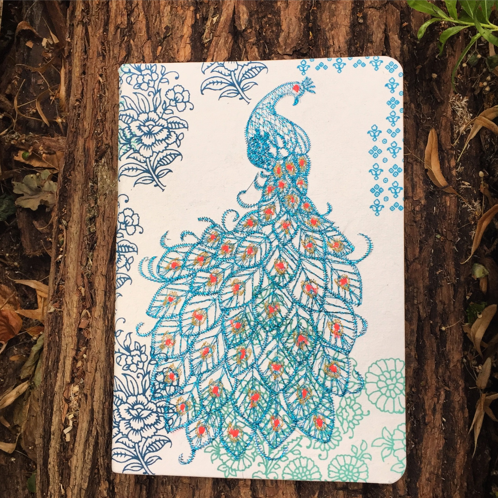 Galison-peacock-journal-notebook