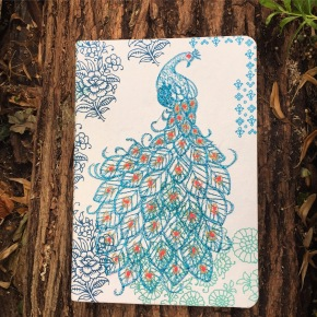 The Write Stuff: Handmade Peacock Embroidered Notebook