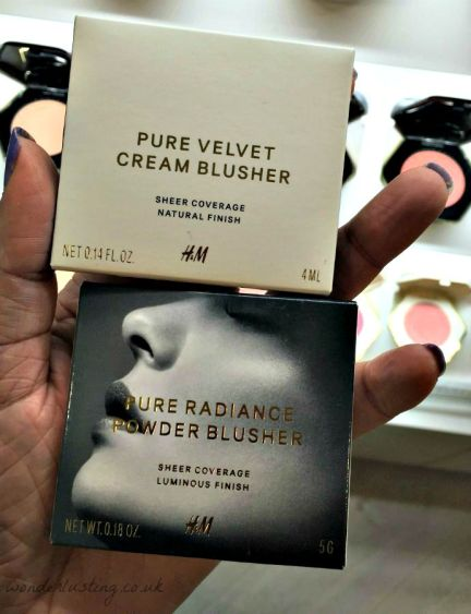 H&M Beauty velvet cream and powder blushes £6.99