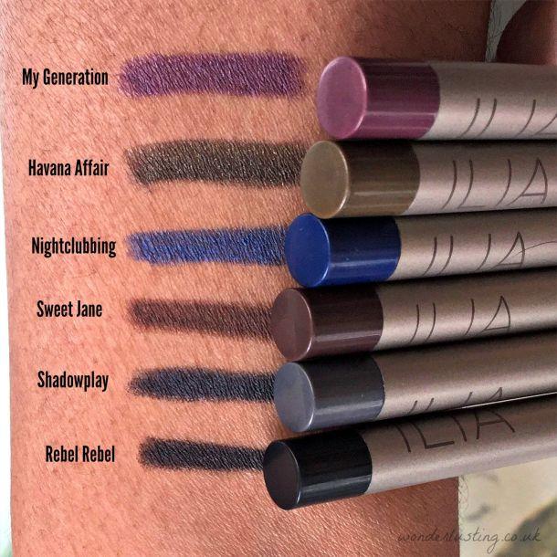ILIA Pure Eyeliner swatches