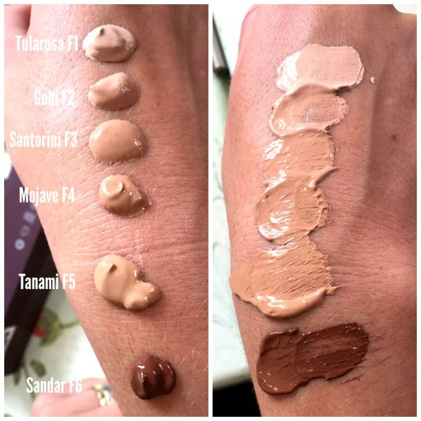 ILIA Vivid Foundation swatches
