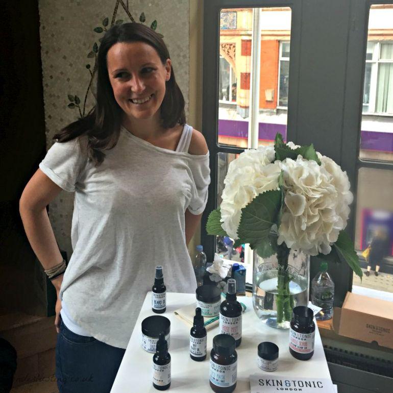 Sarah Hancock, founder, Skin & Tonic