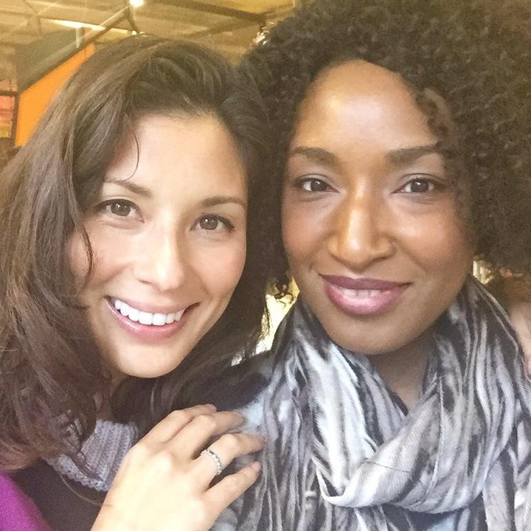 Me with Jasmine Hemsley. The Hemsley sisters are Organic Beauty Week ambassadors