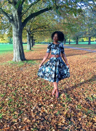 Closet London, New Look Midi Black Floral Dress
