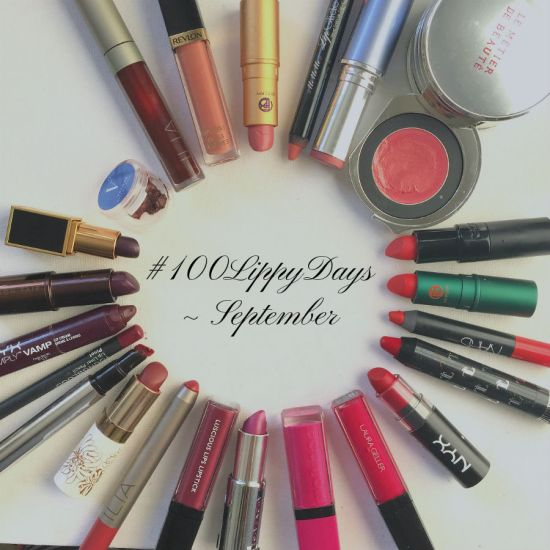 Lipsticks I wore in September #100lippydays
