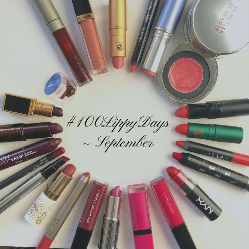 Lipsticks I wore in September #100lippydays