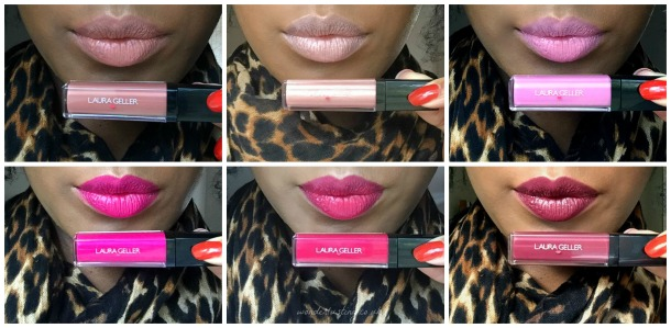 Laura Geller Luscious Lips Liquid Lipstick Swatches