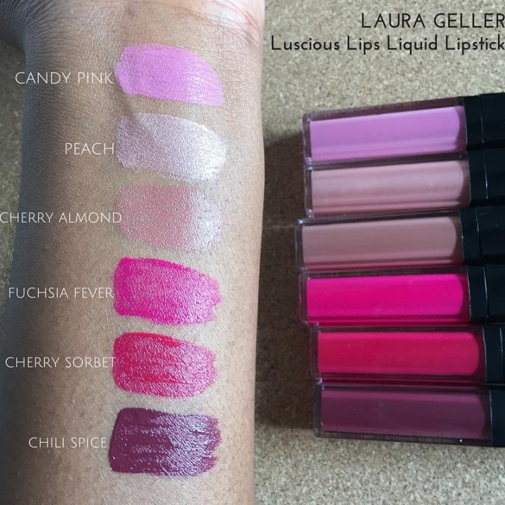 Laura Geller Luscious Lips Liquid Lipstick swatches