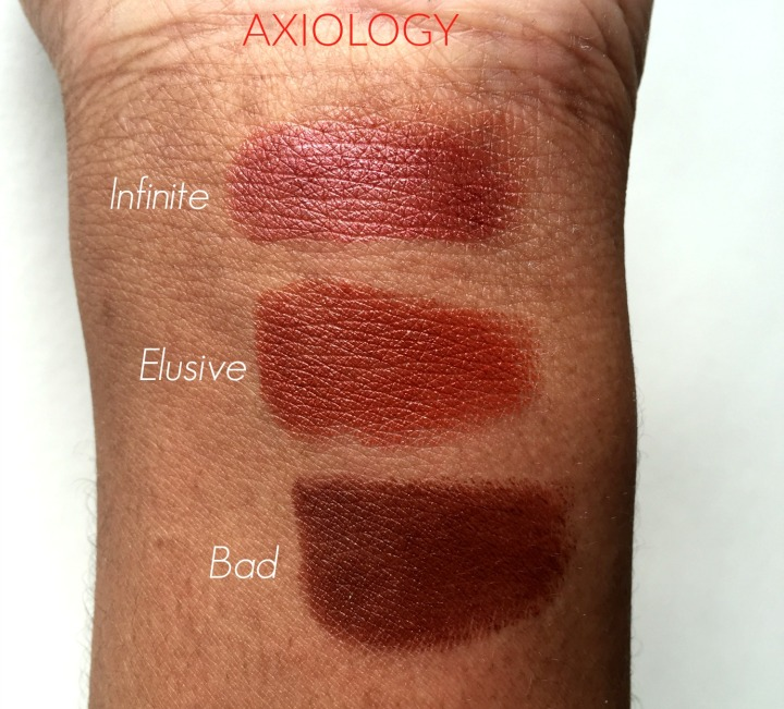 Axiology Infinite Elusive BAd swatches