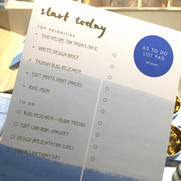 Kikki K A5 to do list pad