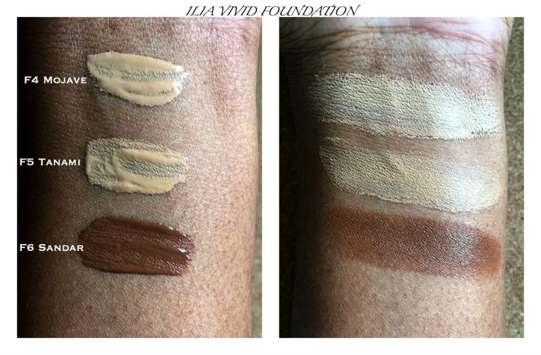 ILIA VIVID foundation swatches on dark skin